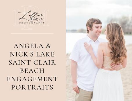 Angela & Nick's Lake Saint Clair Beach Engagement Session // Michigan Portrait Photographer