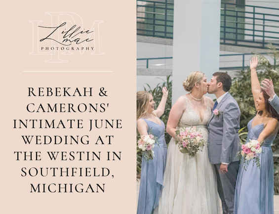 Rebekah & Camerons' Westin Atrium Intimate Wedding in southfield michigan