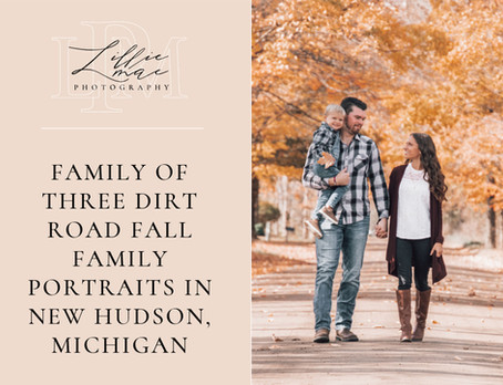Dirt Road Family Session / Michigan Family Portrait Photographer