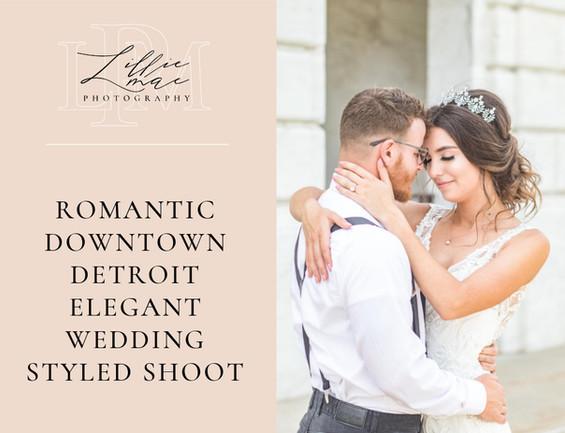 Romantic Downtown Detroit Elegant Wedding Styled Shoot