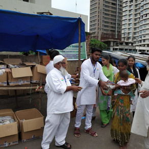 Food & Cloths Distributed to Underprivileged People