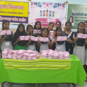 Free Sanitary Pads Distributed to Girls on Girls Child Day