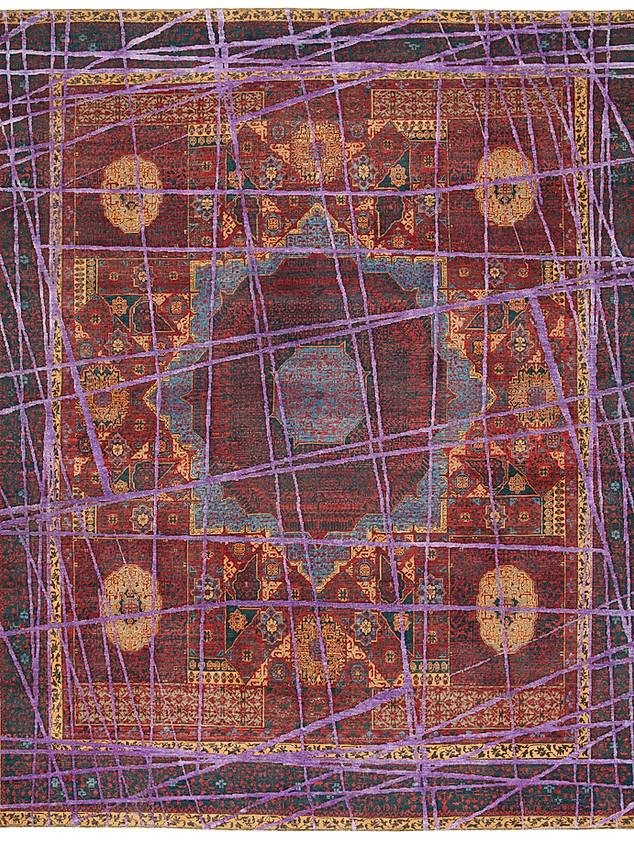 Mamluk Columbus Wrapped Purple Silk