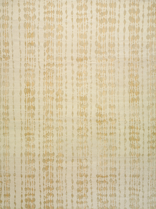 Beaded Curtain White Poplin