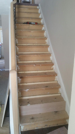 Stairs after carpet was removed