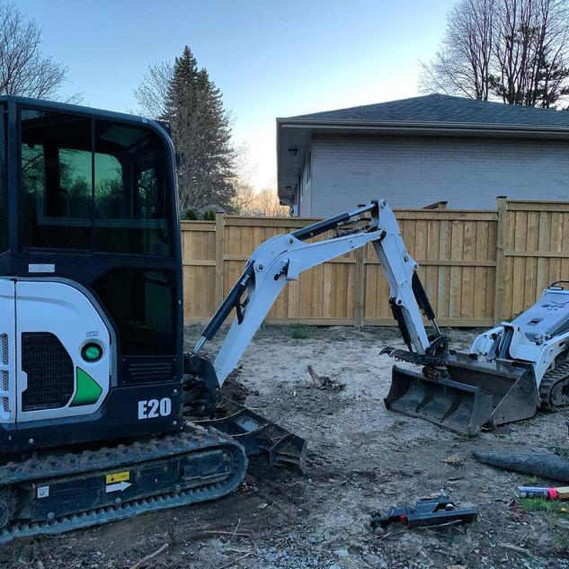 Bobcat excavator and skid steer