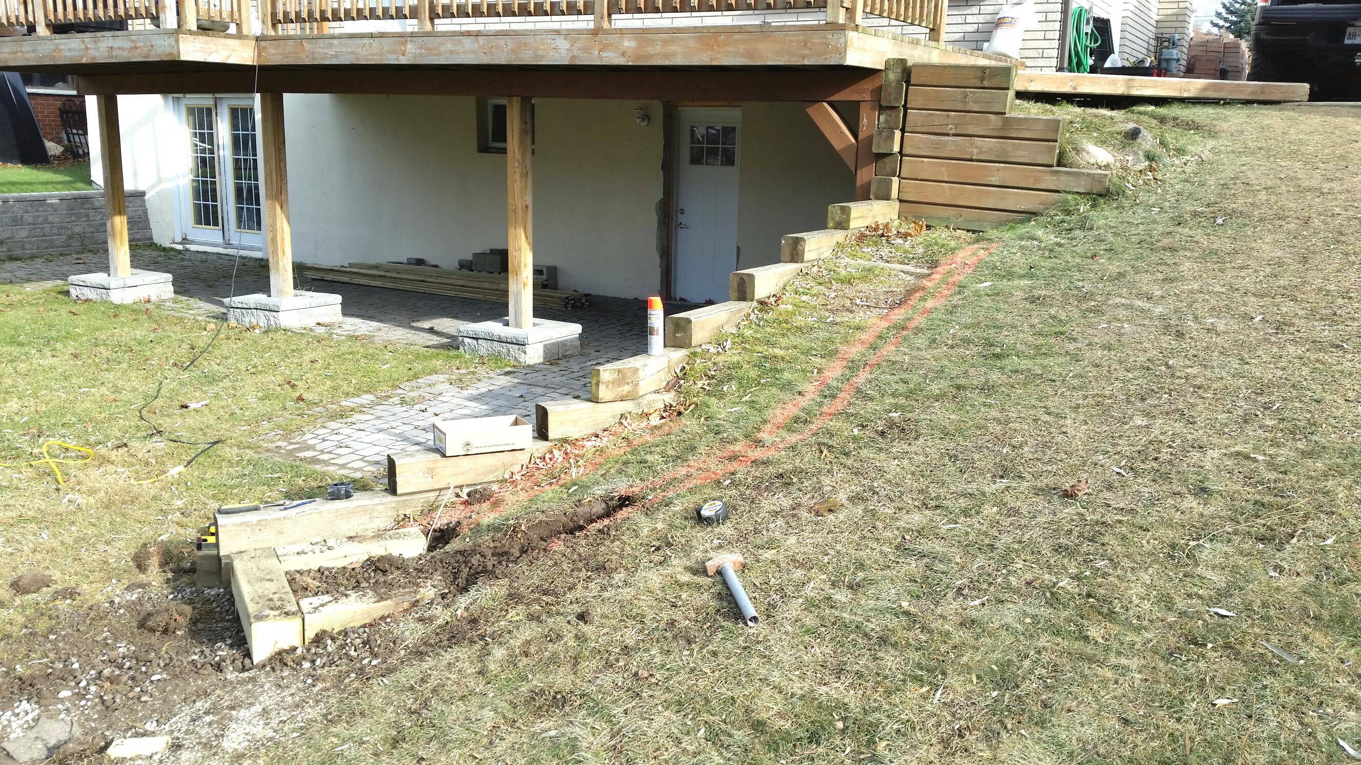 Before deck extention was added