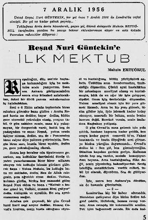 Muhsin Ertuğrul,1957,Reşat Nuri Güntekin