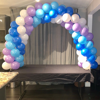 Table Arch Balloon Decor