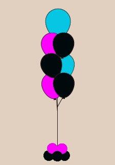 7 Balloon Floor Bouquet