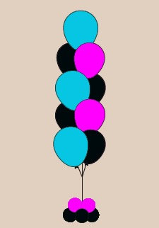 9 Balloon Floor Bouquet