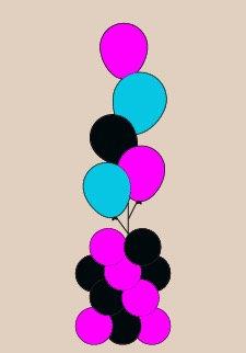 Fancy Floor Balloon Bouquet