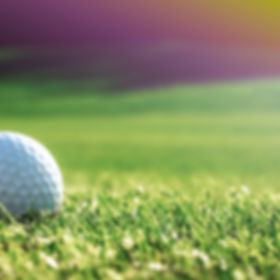Green grass with golf ball close-up in s