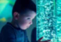 Child in therapy sensory stimulating roo