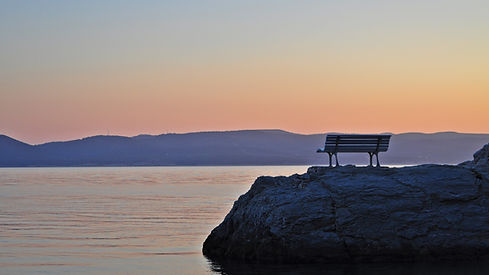 Bench on a rock, Brela Stomarica, Croati