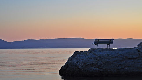 Bench on a rock, Brela Stomarica, Croati