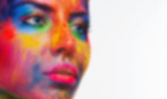 Holi colors festival. Portrait of beauty