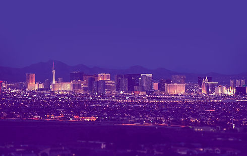 Las Vegas Cityscape at Night in Vintage