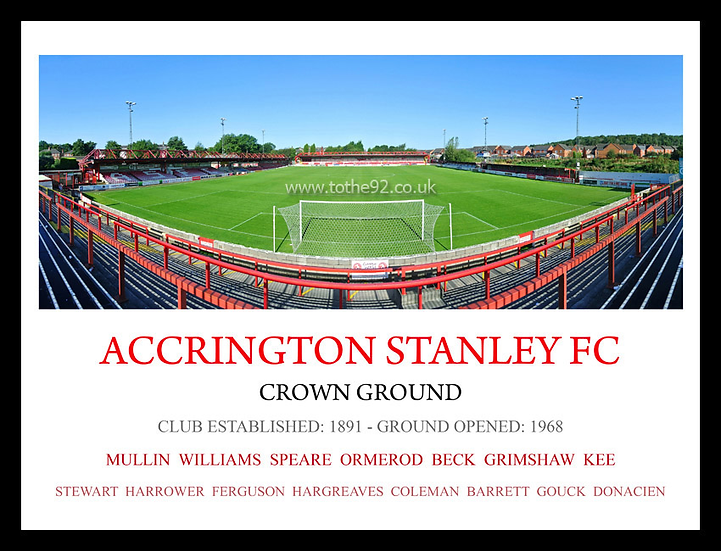 Accrington Stanley FC - Legends