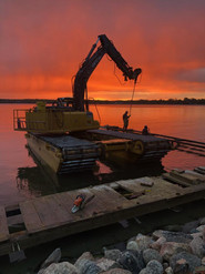 The Sunset On A Great Day of Construction