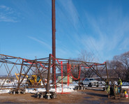 Utility Tower Helical Anchor Support System