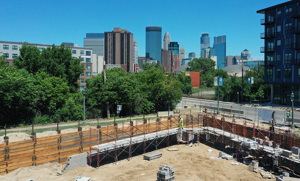 Atlas Foundation Company project site in downtown Minneapolis