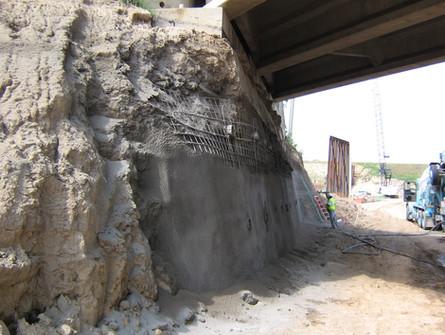 Underpass Soil Nail Shotcrete