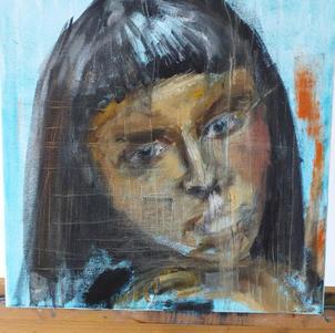 Portrait in progress - Oil on Canvas