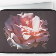 Pink Rose Laptop Case