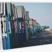 Beach Hut Laptop Skin