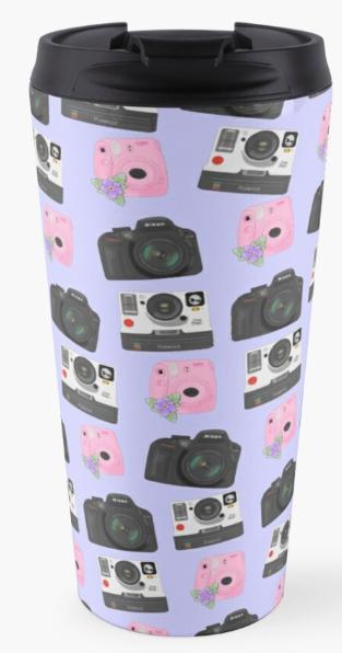 Mix of Cameras Travel Mug