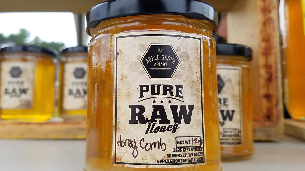 Honey 12 oz - with honeycomb