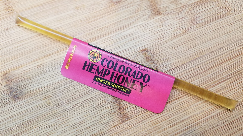 Ginger Soothe - Hemp Honey Stick