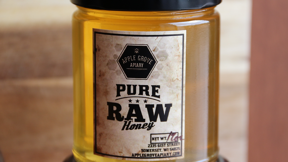 Honey 12 oz glass jar