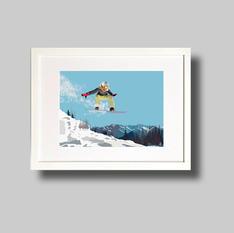 Snowboarding Girl jumping