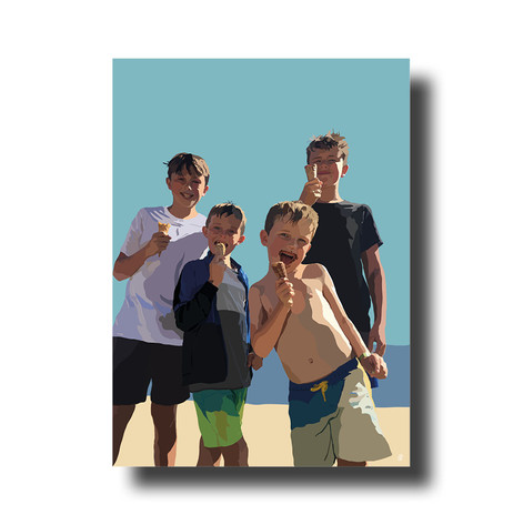 Family of boys
