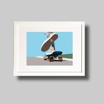 Skate Boarding to the beach