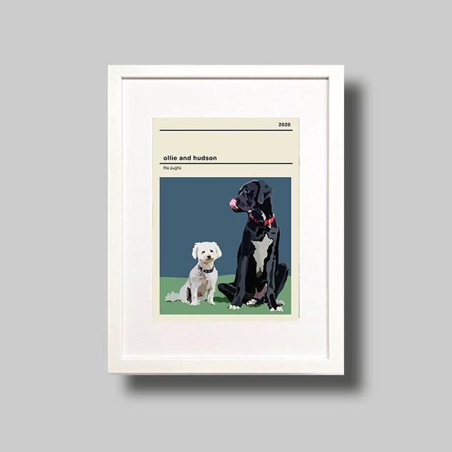 Vintage Family Pet Print