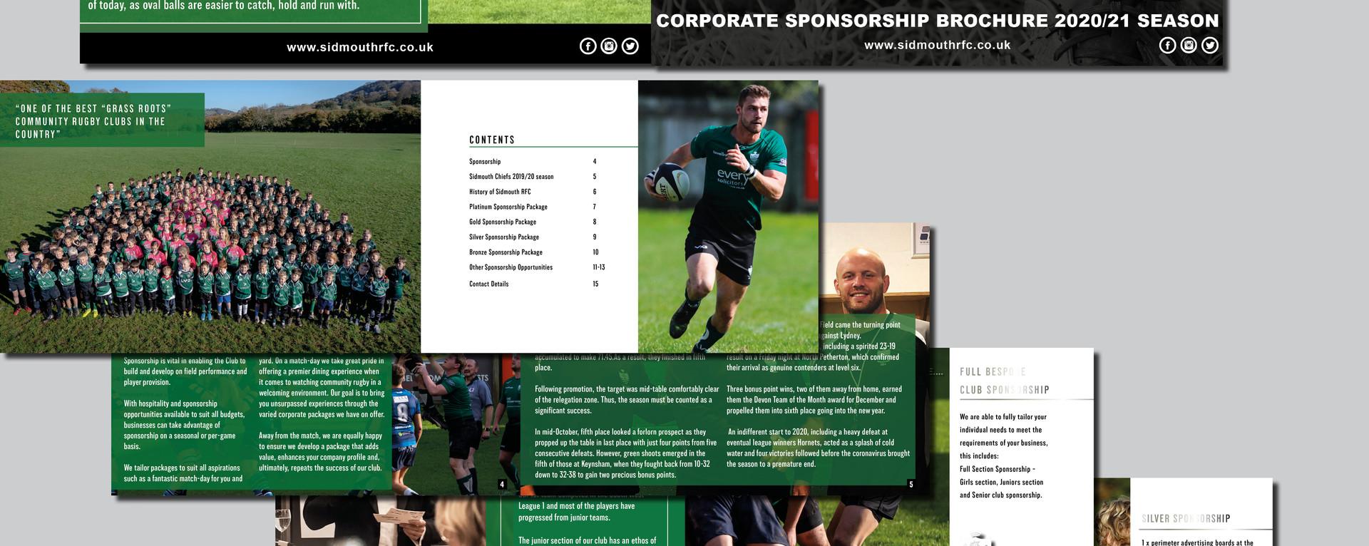 Sidmouth RFC Brochures