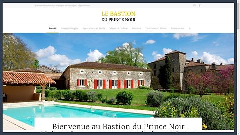Bastion du Prince Noir - conseils tourisme -  création site web gite et maison d'hôtes - gers - lot et garonne
