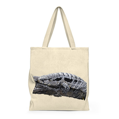 Blue Tegu Shoulder Tote Bag For Sale, LARGE Tote, Tegu, Lizard, Tegu World