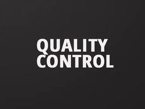 7. Quality Control