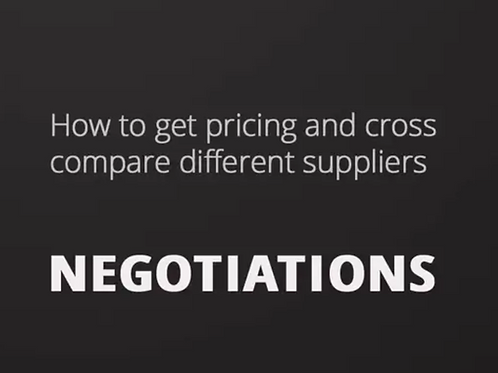 4. Negotiations and Pricing