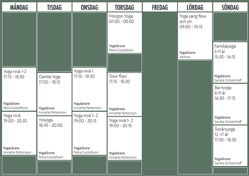Studio Yoganu - Schema grön u. fredag.jp