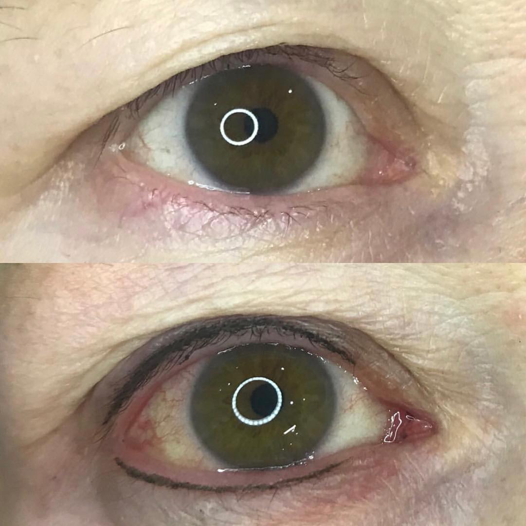 Brown and black natural lash enhancement
