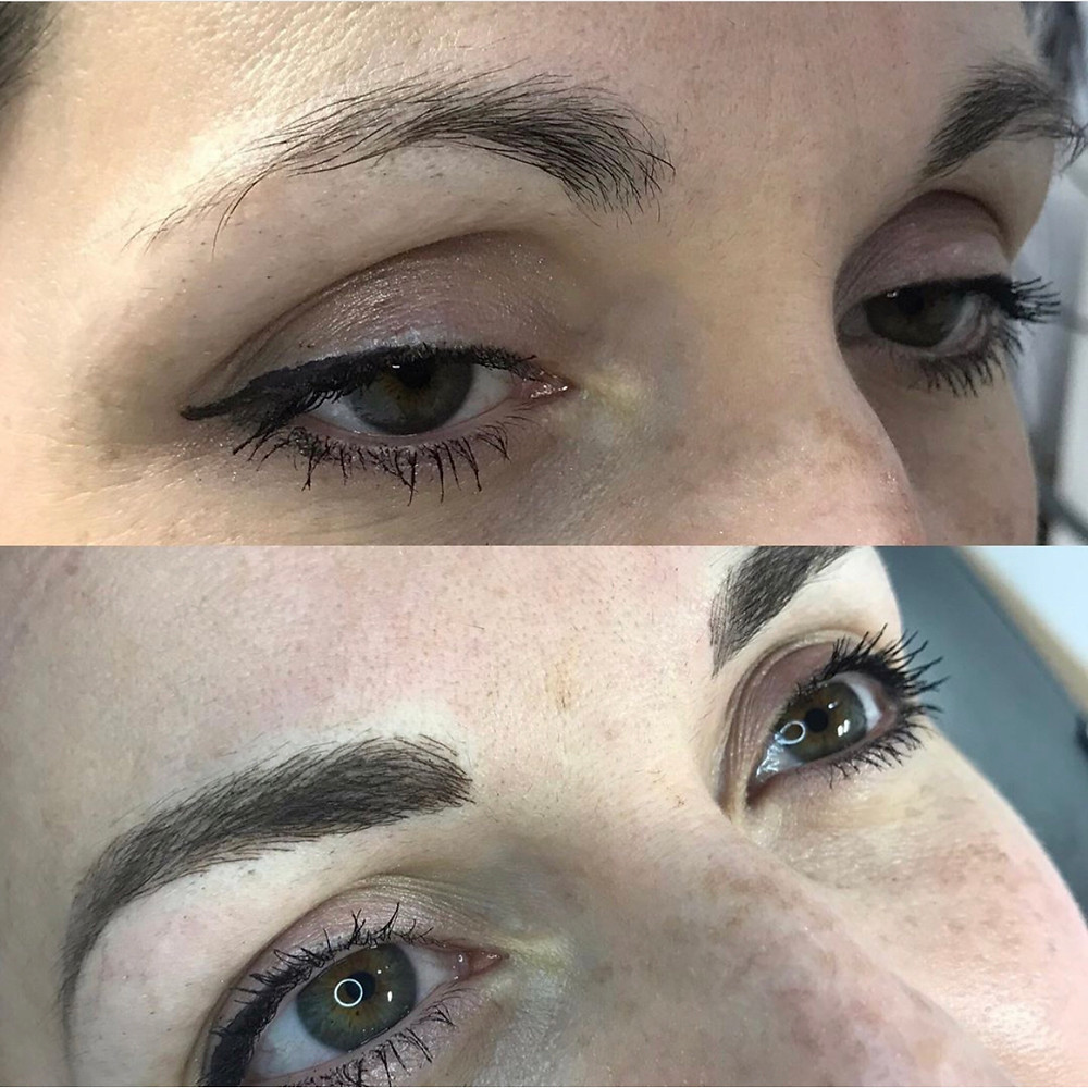 I created the illusion of lift to open the eye area as well as enhancing the existing shape