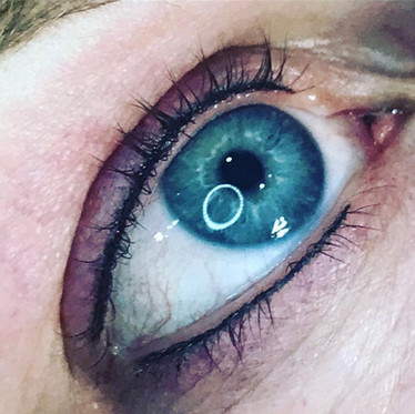 Dark blue grey lash enhancement