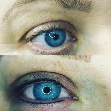 Dark grey lash enhancement