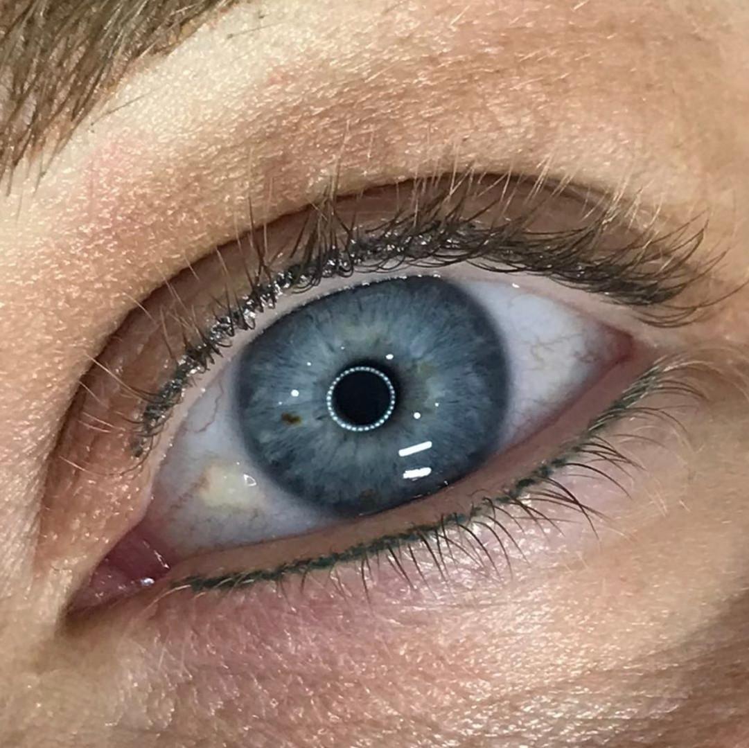 Steel grey blue natural lash enhancement