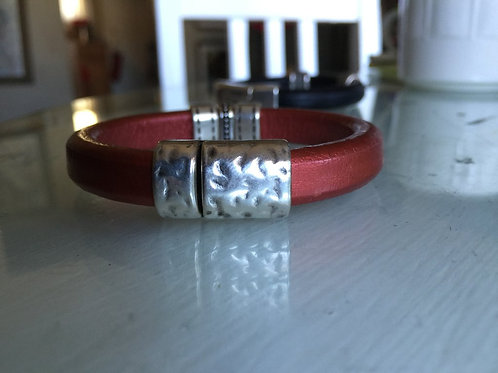 Bronze Leather Convertible Magnetic Bracelet